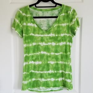 Green Merona V Neck Top